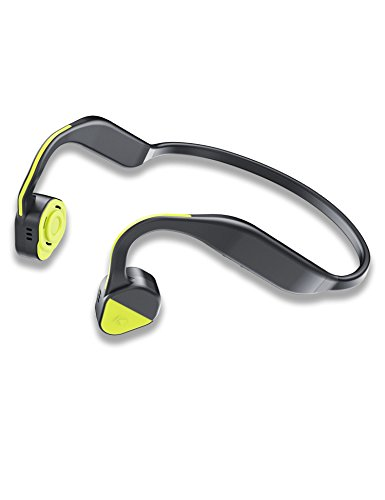Open Ear Wireless Bone Conduction Headphones With Mic, For Running, Workouts, Biking And Driving