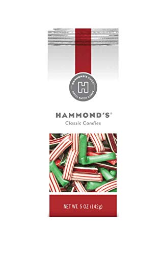 Hammond's Candies Hard Candy (Christmas Straws Filled with Chocolate or Créme, 2-Pack)