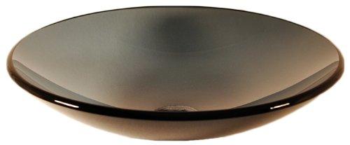 Novatto Coetaneo Glass Vessel Sink - Clear Black