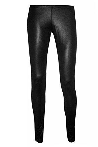 Be Jealous - Leggings Pour Femmes Effet Cuir Mouillé Mat Long - Noir, XL - 44