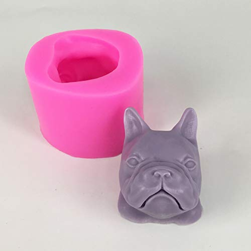 (Dog Velvet - Dog Bulldog Gypsum Aromatherapy Silicone Mold Handmade Soap Making Mould - Grade Mold Putty Ceramics Machine Products Making Epoxy Mould Puddy Gelcoat Rubber Kits Material Cups Pl)