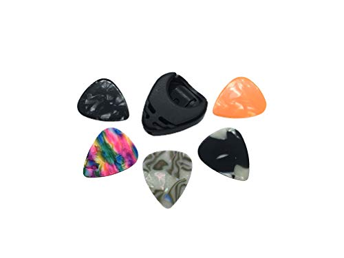 Guitar Pick Holder and Guitar Picks Peel N Stick on the Guitar or Amp Suitable for Electric Guitar Acoustic Guitar Bass or Amplifier - Stick-on Foam + 5 Guitar Picks