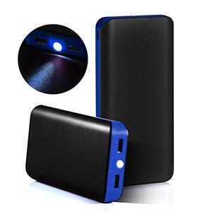 GRDE® 25000mAh Cargador Portátil Móvil Alta Capacidad Batería Externa Power Bank para iPhone Huawei Samsung HTC y Smartphones Android (Azul Negro)