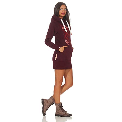 burgundy Mujer Gh2542 sudadera Rojo Yakuza Premium BwI0xq50E1