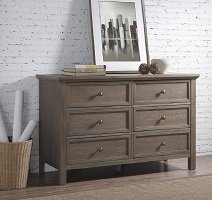 Bedroom Rustic Collection All Wood Dresser with 6 Large