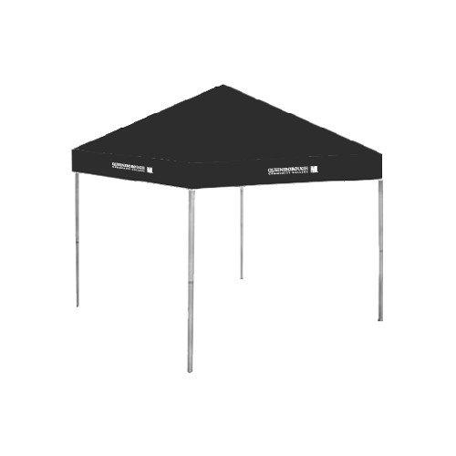 Queensborough Comm 9 ft x 9 ft Black Tent 'Official Logo' by CollegeFanGear