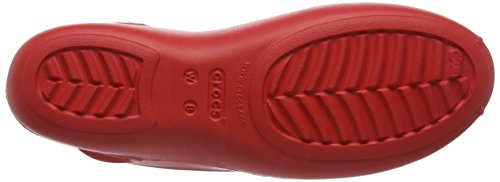 Rosso Bailarinas para Flame Crocs Mujer Oliviaiiflatw q8IBxwU