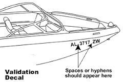 2 Boat Jet Ski Registration Number Decals Vinyl Sticker PWC Lettering 3