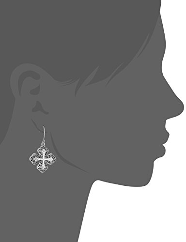 Stainless Steel Cross Dangle Earrings