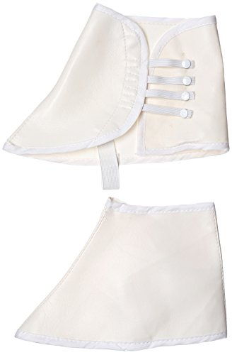 Costume Culture Men's Vinyl Spats Deluxe, White, One (Spats For Shoes)