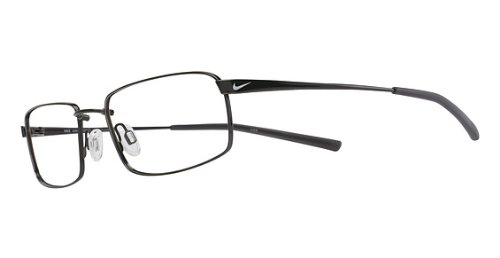 28641c31f244 Amazon.com: Nike Eyeglasses 4193 001 Black Chrome Demo 55 18 145 ...