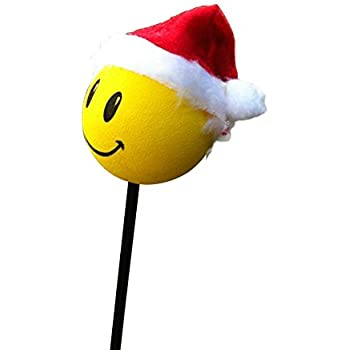 Happy Christmas Grinch Santa Antenna Topper//Antenna Ball//Rear View Mirror Dangler//Auto Accessory Tenna Tops