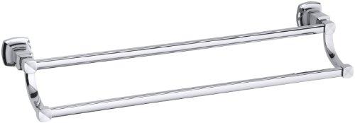 KOHLER K-16253-CP Margaux 24-Inch Double Towel Bar, Polished Chrome by Kohler