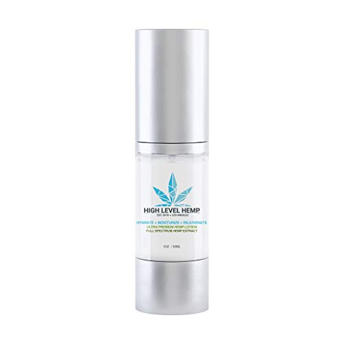 High Level Full Spectrum Hemp Extract Lotion | Ultra Premium Lotion to Moisturize, Rejuvenate, Hydrate | Boost Collagen, Prevent Wrinkles, Anti-Aging, Essential Acids, Vitamins and Nutrients