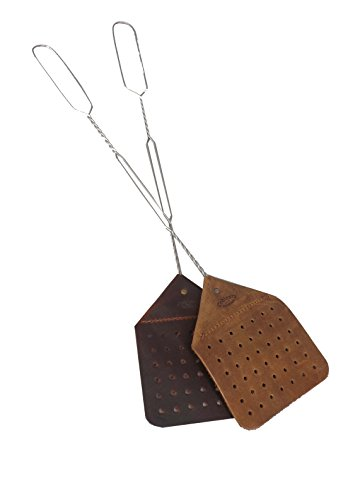 Amish Handmade Leather Fly Swatter (Medium Brown) ()