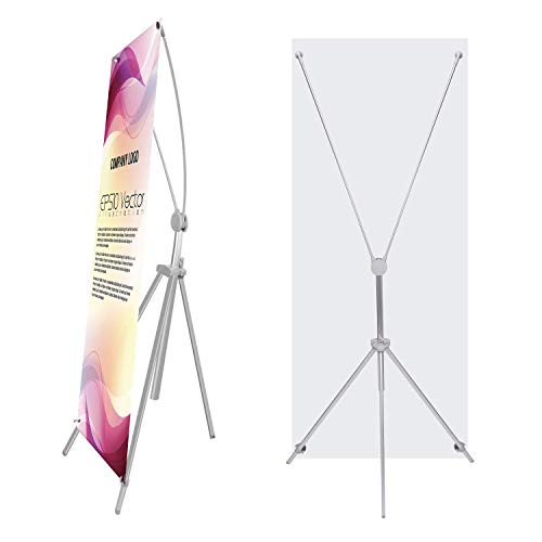 - TheDisplayDeal Adjustable Aluminum Banner Stand Fits Any Banner Size from 24