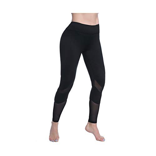 (FEIVO Yoga Pants, Women's Power Flex Yoga Pants Tummy Control Workout Yoga Capris Pants Leggings)