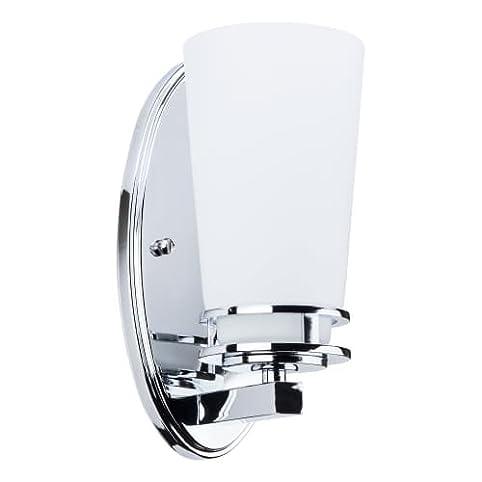Miseno MLIT Mia Single Light Bathroom Sconce Reversible - Polished chrome bathroom sconces