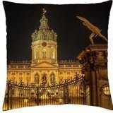 wonderful gate to charlottenburg castle in berlin - Throw Pillow Cover Case (18
