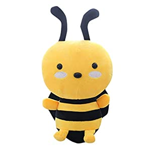 Calvinbi Lovely Soft Little Bee Animal Doll Stuffed Plush Toy Home Party Wedding Kid Gift Colours VaryPets Plush Toy