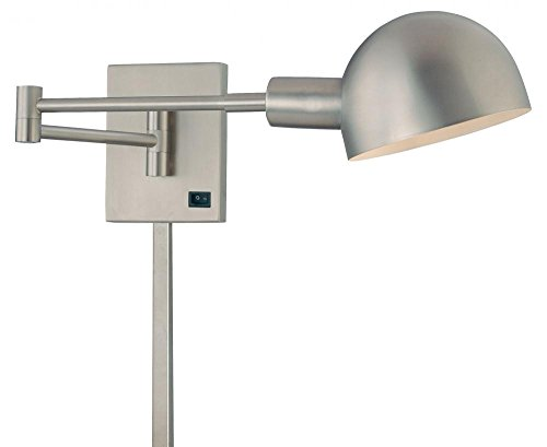 George Kovacs P600-3-603, P3, 1 Light Wall Lamp, Matte Brushed Nickel