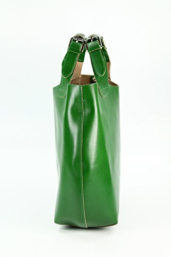 Belli, Borsa shopper donna Verde 2