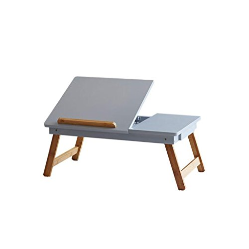 GFL Laptop Table Bed Dormitory Folding Desks Coffee Table Desk Small Tables Computer Tables (Color : Gray) by GFL