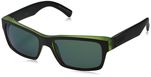 VonZipper Fulton Rectangular Sunglasses, Vibrations Satin/Quasar, 57 mm