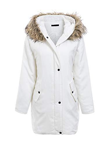 Para Annybar Annybar Blanco Abrigo Abrigo Mujer wZOvHq