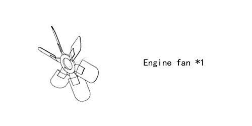 Engine fan 4931796 for diesel engine: