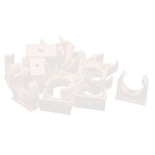 uxcell 18 Pcs 30mm Diameter PVC Water Tube Pipe Clamps Clips Connectors White (Pipe Pvc 18)