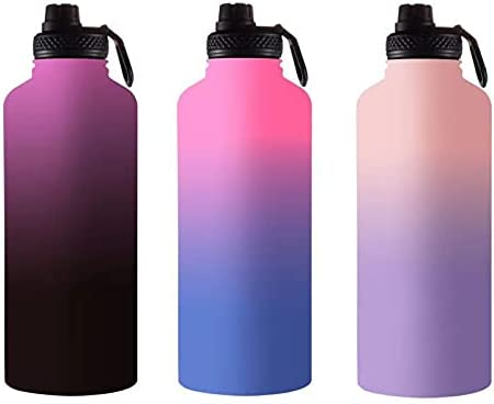 HUAZHE 40 oz vacuum insulated stainless steel sports water bottle, double-wall sweat-proof BPA can keep the beverage warm for 12 hours and cold for 12 hours