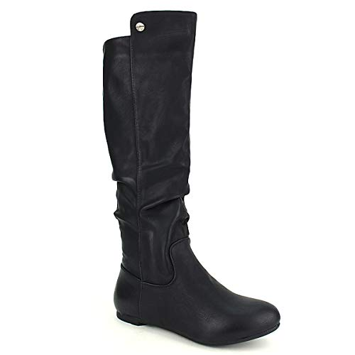 Semi Cuissarde Noire Botte Chaussures Mode's Cendriyon Noir Femme 8Tw5qx