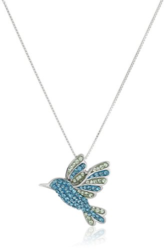 Sterling Hummingbird Swarovski Elements Necklace