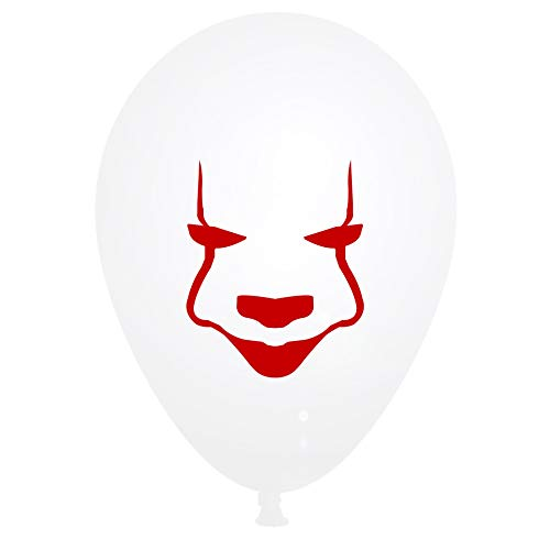 (Stephen King's It Horror Clown Mask Party Supplies Balloons Halloween Carnival Parties and Cosplay Decorations Prop,It: Chapter Two Surprise Gifts in Advance 12inch [25)
