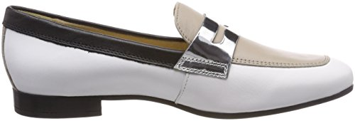 Para Marlyna sand Mocasines Mujer Geox white Blanco B D IpnqCSH5w7