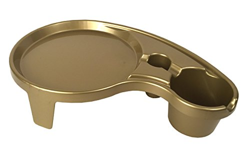 Arron Kelly - Party Pals - One Handed Drink Holder, Napkin, Cutlery & Food Serving Tray with Hidden Handle - Stunning Gold - Breakfast Table for 1