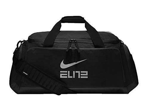 Nike Hoops Elite Basketball Duffel Bag Black/Black/Metallic Cool Grey BA5553-010