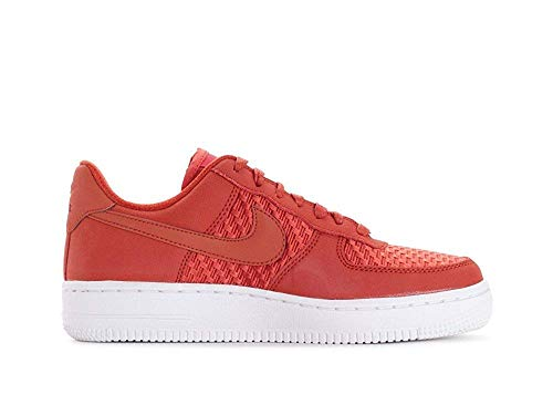 Nike Womens Air Force 1 '07 Pinnacle AF1 Red White Athletic Fashion Shoes (9) (Nike Air Force One Purple And Gold)