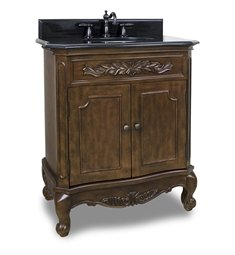 Single Nutmeg Vanity Bathroom - Elements VAN062-T Clairemont Vanity, Painted Nutmeg