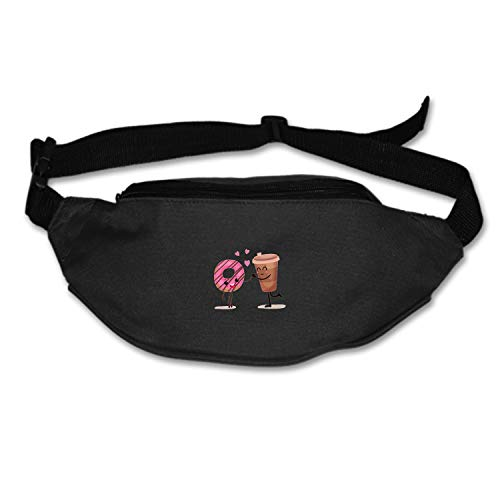 Myfa Coffee and Glazed Doughnuts Travel Fanny Bag Waist Pack Super Lightweight for Travel Cashier's Box, Tool Kit ()