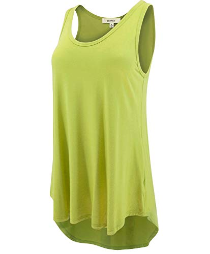 LUVAGE Women's High Low Tank Top Tunic Shirts Loose Fit ()