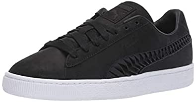 PUMA Womens Basket Crafted Black Size: 5.5