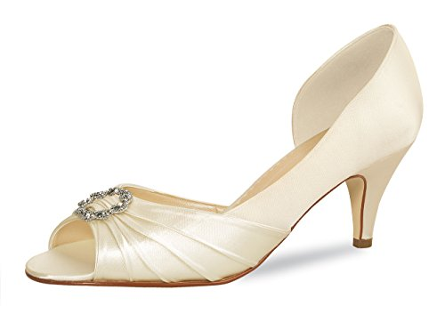 Blanc toe Escarpins Shoes Elsa Ivory Peep Coloured Femme UvnwR
