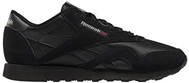 Reebok Women's Classic Nylon Running Shoe, Black/Black/Carbon - 10
