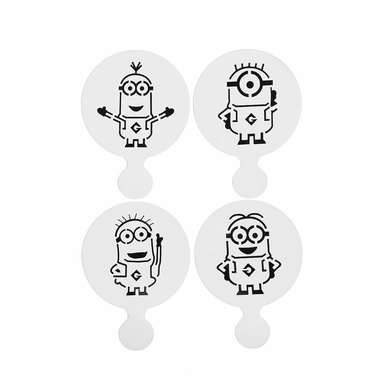 4 PC Minions (Minion) Despicable Me Decorating Stencil Set - Custom Stencils from Bakell (Minon Cake)