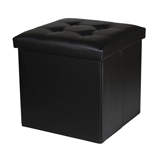NISUNS OT02 Leather Folding Storage Ottoman Cube Foot Rest Stool Seat.15