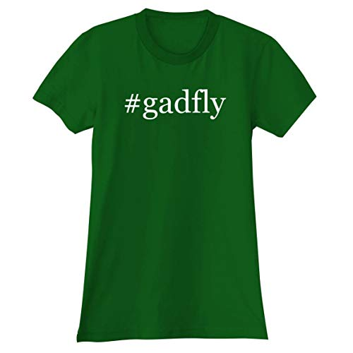 The Town Butler #Gadfly - A Soft & Comfortable Hashtag Women's Junior Cut T-Shirt, Green, - Juniors Brushstrokes T-shirt