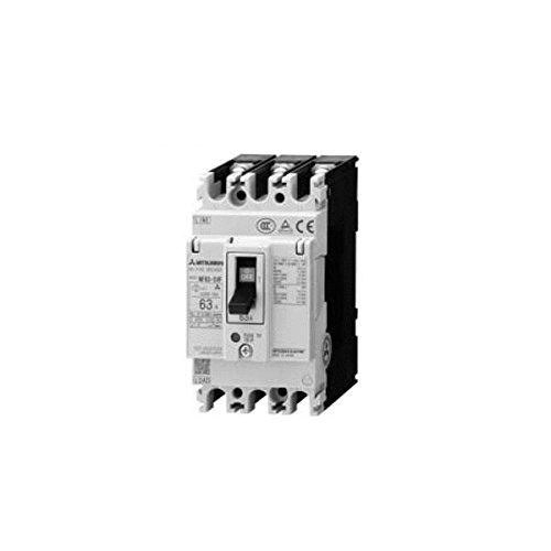 MITSUBISHI ELECTRIC NV63-CV 2P 60A 30MA Earth-Leakage Circuit Breakers (Harmonic Surge Ready)(Economy class)(2 Poles)(Frame 60A) NN ()