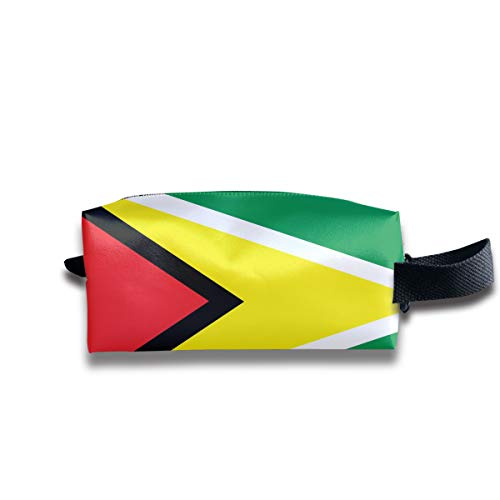 - SweetieP Guyana Flag Pencil Case Pen Zipper Bag Coin Organizer Makeup Costmetic Bag Portable Pouch